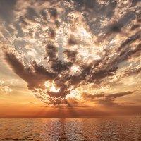 Закат над Черным морем. :: Сергей Ермяков