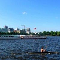 По озеру Альстер :: Nina Yudicheva