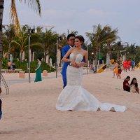 Жених и невеста на пляже :: Асылбек Айманов