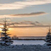 winter sunset :: Dmitry Ozersky