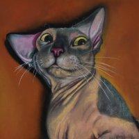 """""""Правда-правда ты купишь мне шубу?"""" Картина написана пастельными мелками. :: Лара Гамильтон"""