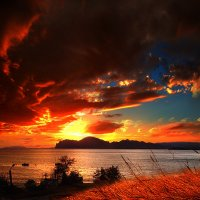 в огненном пламени заката пылали звезды, небеса! :: viton