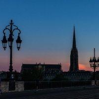 Бордо. Базилика Сен-Мишель в красках заката. :: Надежда Лаптева