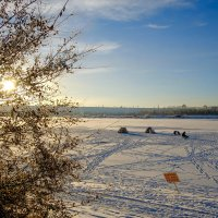 Зимняя рыбалка в Иркутске. :: Rafael
