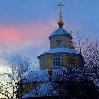закат. старообрядческий храм :: Александр Прокудин