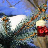 И остались сапоги с Дед-Морозовской ноги. :: Валентина ツ ღ✿ღ