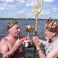 Летняя репетиция крещенского купания в Днепре :: Алекс Аро Аро