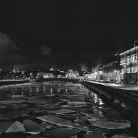 Ночь.Зима.Канал. :: марк