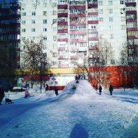 Зимняя горка в Люберцах. :: Ольга Кривых