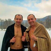 С сыном после купания... :: Юрий Гординский