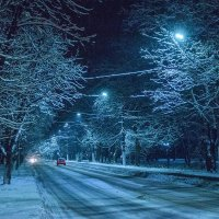 Ночь, улица, фонари :: Сергей Тарабара