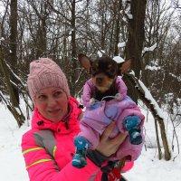 Дама с собачкой. Собачка по имени Куца (маленькая) :: Андрей Лукьянов