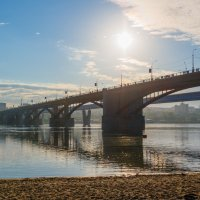morning. bridge across the Ob river :: Дмитрий Карышев