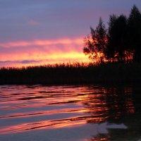 Закат над озером... :: Жанна Егорова