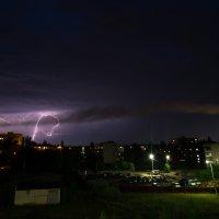 Гроза над Николаевкой. :: Михаил Сандарьян