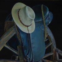 """""""Ковбойское снаряжение"""". Холст. Картина написана маслом. 90х60 :: Лара Гамильтон"""