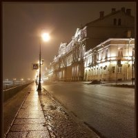 Ночь,набережная,фонарь.... :: Андрей Зайцев