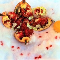 Взрывоопасные фрукты на снегу :: Сергей Чиняев