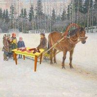 Дети с салями зимой :: genar-58 '