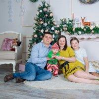 Новогодняя семейная фотосессия :: марина алексеева