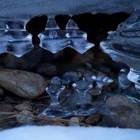 Ледяные кристаллы на реке Чарыш :: Кристина Воробьева