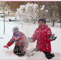 Снежный фонтан. :: Anatol Livtsov