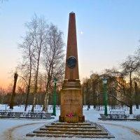 обелиск на месте дуэли Пушкина :: Елена