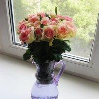 Розы на окне :: татьяна