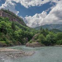 Река Большая Лаба,возле д.Рожкао. :: anatoly Gaponenko