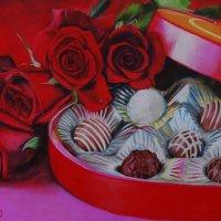 """""""С любовью!"""" (Картина написана пастельными мелками.) :: Лара Гамильтон"""