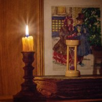 Свеча горела на столе :: Вера Сафонова