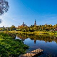 Город Торжог. река Тверца. Борисоглебский монастырь. :: Николай