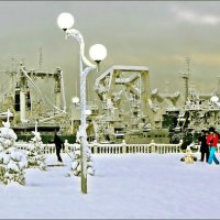 Ёлки, мачты, фонари и лыжники... :: Кай-8 (Ярослав) Забелин