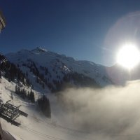 Спустился туман  Авариаз Франция Альпа :: Sergey Istra