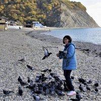 Кормление голубей :: Виктория Попова