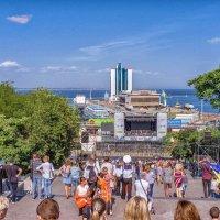 2 сентября на Потемкинской лестнице. :: Вахтанг Хантадзе
