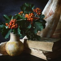 Книжно-ягодный натюрморт :: Галина Galyazlatotsvet