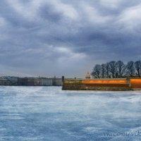 Морозный вечер у Петропавловской крепости :: Виктория Переплетенко