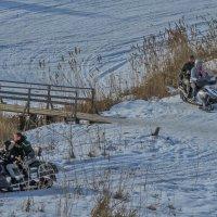 Катание на снегоходах :: Сергей Цветков