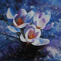 """""""Весенний первенец"""" (Картина написана пастельными мелками). :: Лара Гамильтон"""