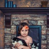 Девочка с собачкой. :: Оксана Я