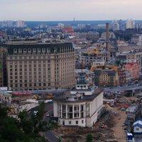Панорама города  Киева. Городские застройки и  речной порт... :: Любовь К.