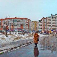 спальный район, весенняя непогода. :: Михаил Николаев
