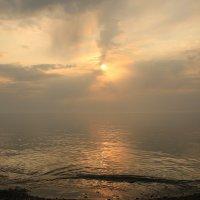 Туман на закате :: valeriy khlopunov