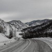 Чёрно белый дресс код зимних гор.. :: Татьяна Степанова