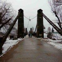Пешеходный мост. г. Остров. :: BoxerMak Mak