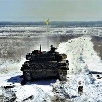 После выстрела из танка собака нарушила все законы физики и гравитации ))) :: Николай Сапегин