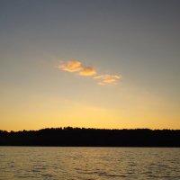 Закат на озере Руокоярви. Карелия. :: Елена Швецова