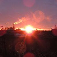 закат в Байкальске :: Даша Дворянкина