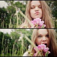 Любительница цветов :) :: Anna Zolotareva